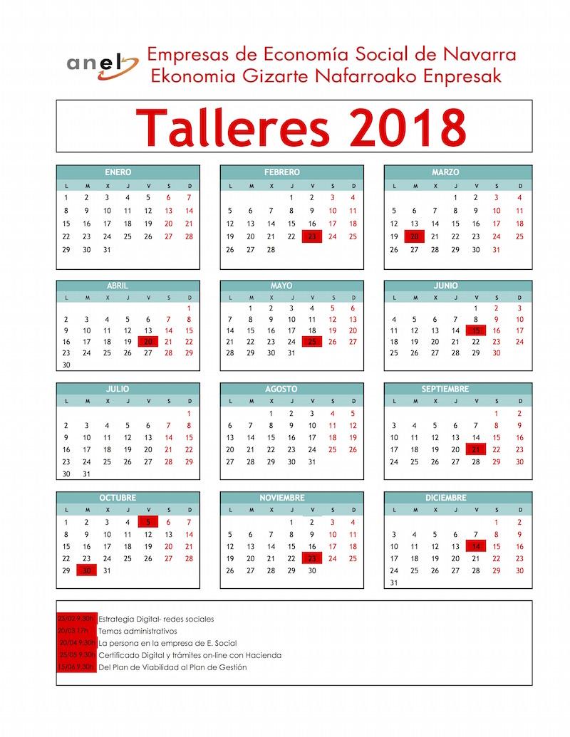 Para más información y fechas de los próximos talleres.